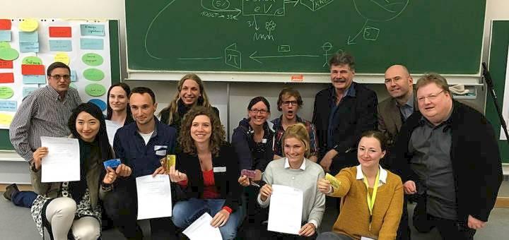 Die Studierenden zusammen mit dem Lernort-Team