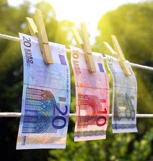 Geldwäsche © Martin Bangemann, Kontakt: bestmoose.biz